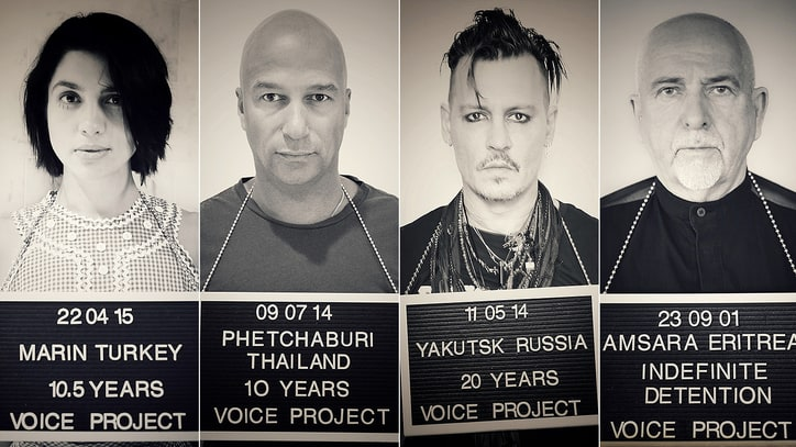 Peter Gabriel, Johnny Depp Lead Voice Project's 'Imprisoned for Art' Campaign
