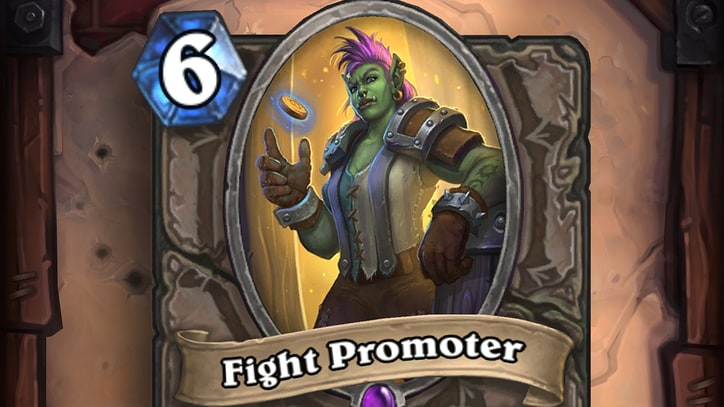 'Hearthstone' is Giving Everyone a Free 'Fight Promoter' Card on Saturday