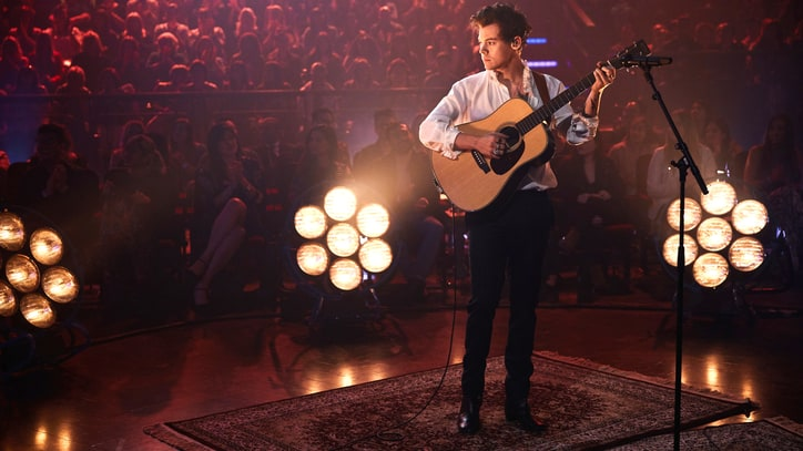 See Harry Styles Perform Aching New Song 'Two Ghosts' on 'Corden'