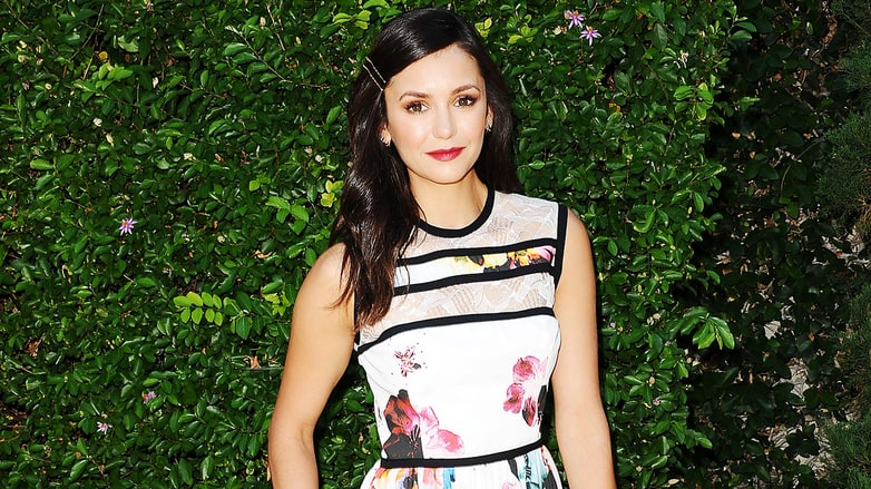 Nina Dobrev Autumn-ified Her Summer Dress in the Best Way