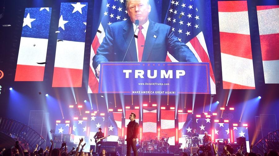 Watch U2 Blast Donald Trump During 'Desire' at iHeartRadio Festival