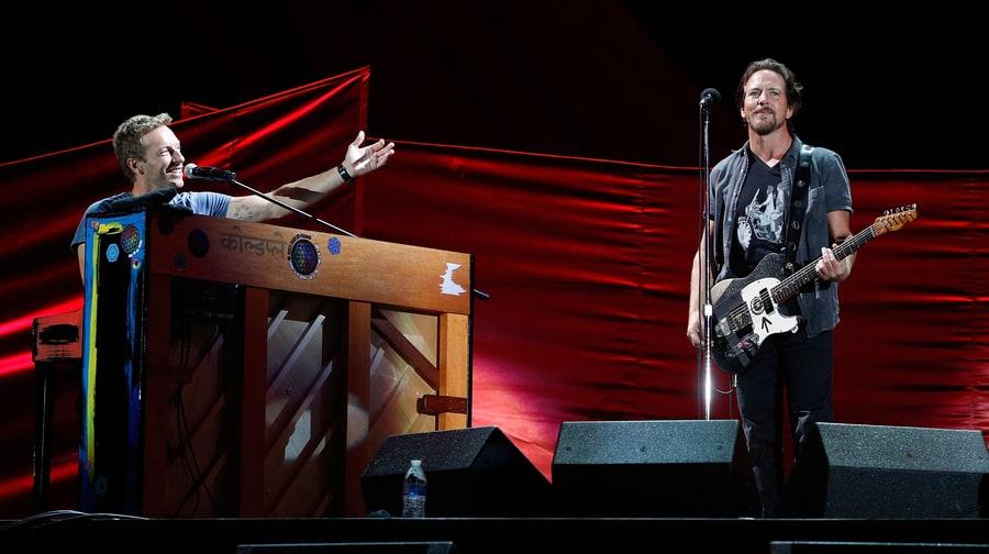 Watch Eddie Vedder, Chris Martin's Joint Global Citizen Set