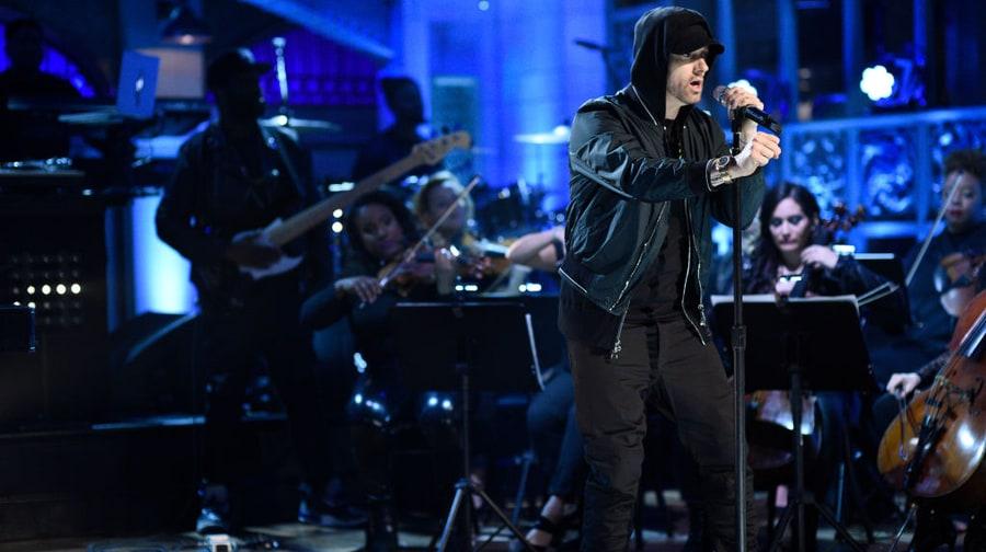 Watch Eminem Deliver Three-Song Medley on 'SNL'