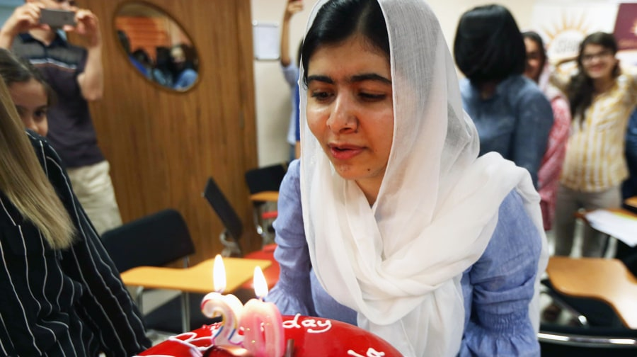 Malala Celebrates 20th Birthday at Iraqi Theme Park With Girls Displaced by Isis