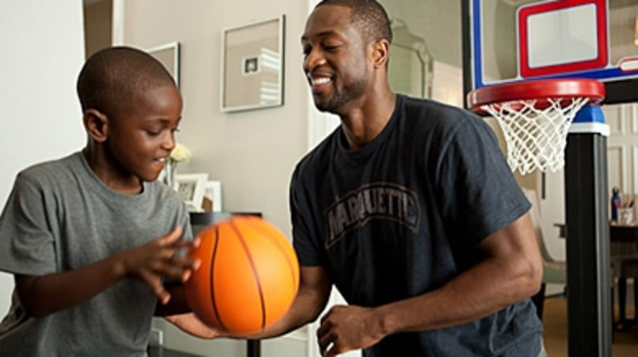 Dwyane Wade's Tips on Working Out With Your Kids