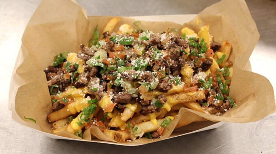 Carne Asada Fries (Bay View Grill, Petco Park, San Diego)