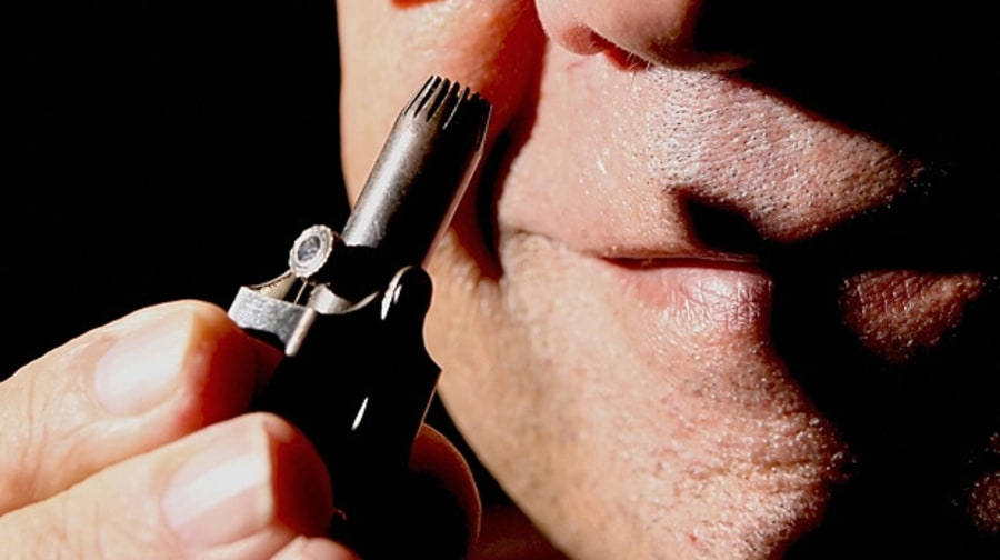 Buy a nose-hair clipper.