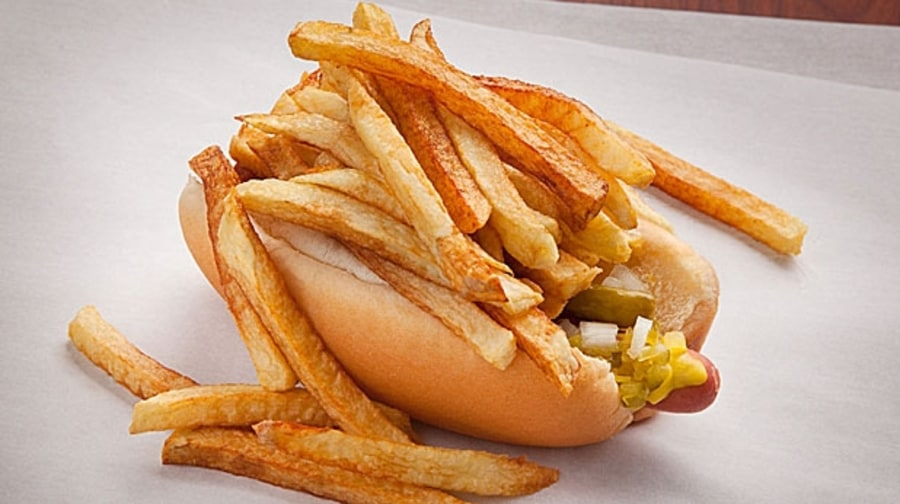 Chicago-Style Hot Dog (River Grove, Illinois)