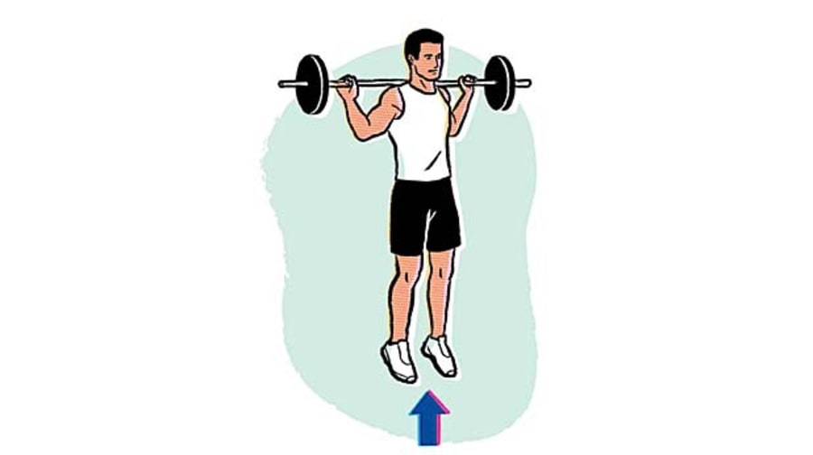Weighted squat jump