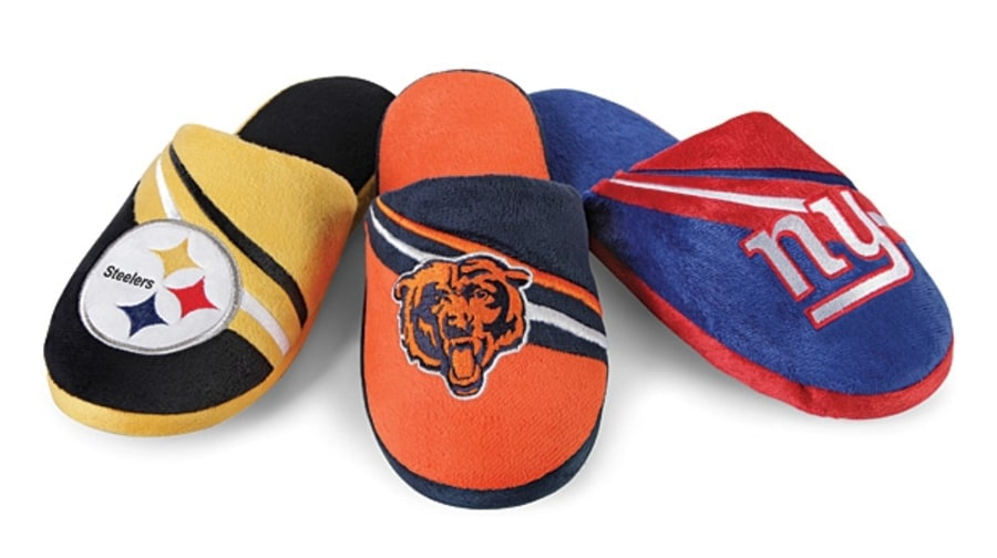 For your estranged nephew: NFL slippers