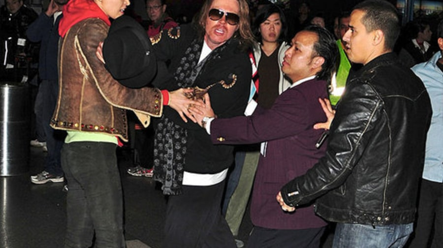 Axl Rose LAX Fight: 2: being held back