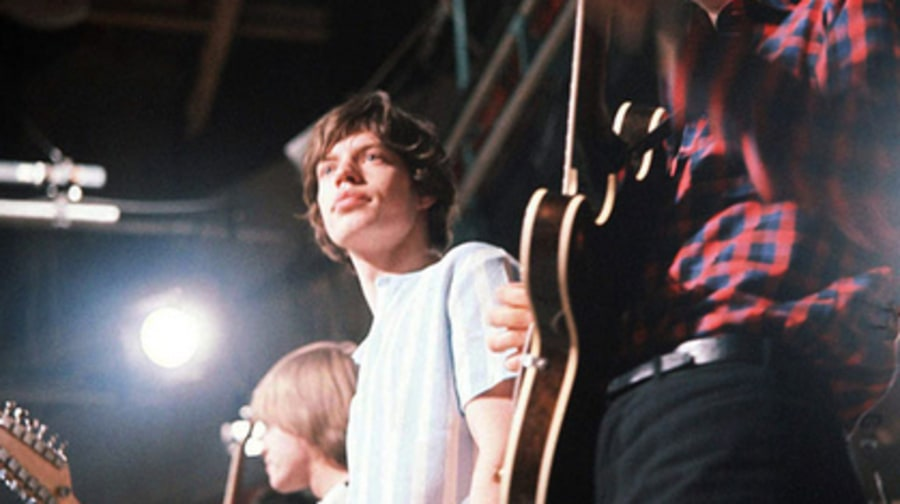 The Rolling Stones performing in London in 1964.
