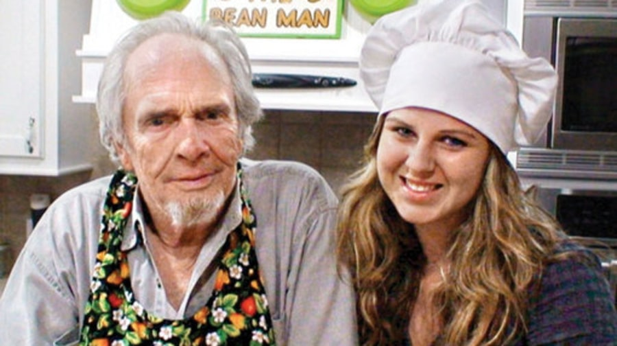 Merle with his daughter Janesa at their home in August of 2009.