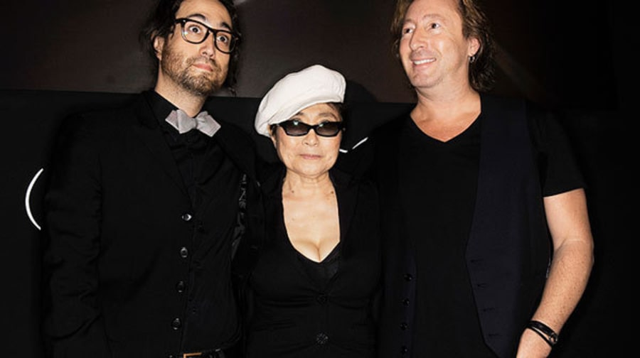 Sean Lennon, Yoko Ono and Julian Lennon