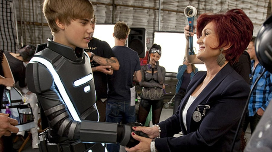 Justin Bieber and Sharon Osbourne