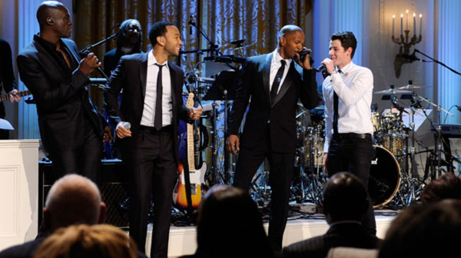 Seal, John Legend, Jamie Foxx and Nick Jonas