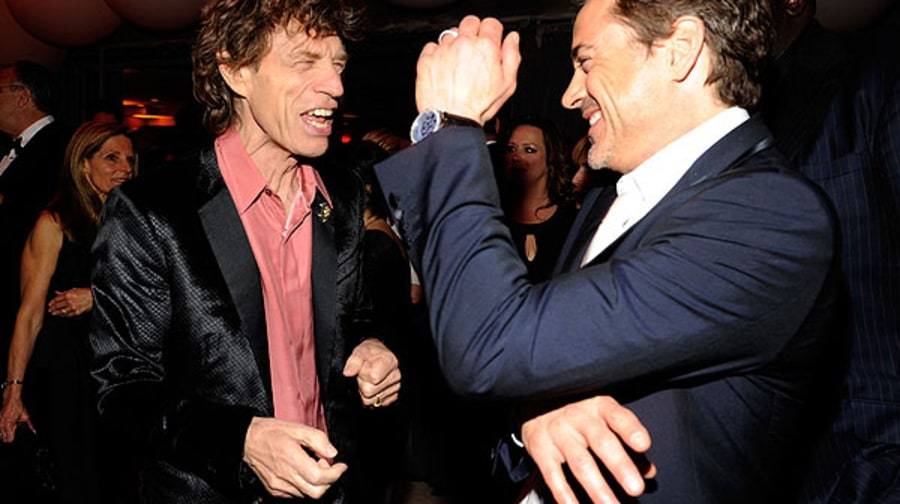 Mick Jagger and Robert Downey Jr.