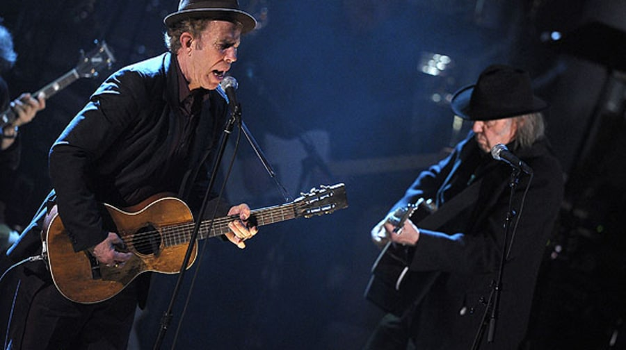 tom waits and neil young photos 2011 rock and roll hall of fame induction ceremony rolling. Black Bedroom Furniture Sets. Home Design Ideas