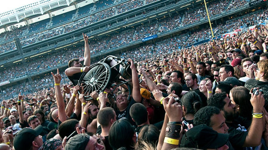 Wheelchair Crowd-Surfing