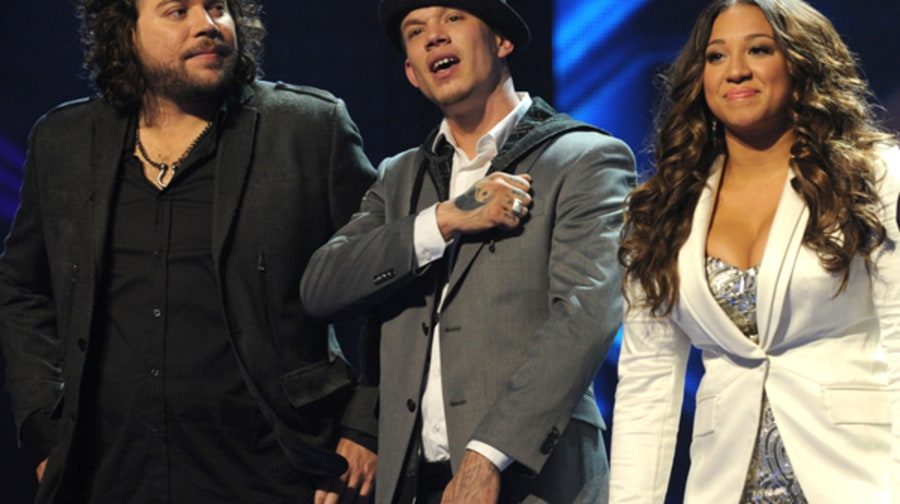 Josh Krajcik, Melanie Amaro and Chris Rene
