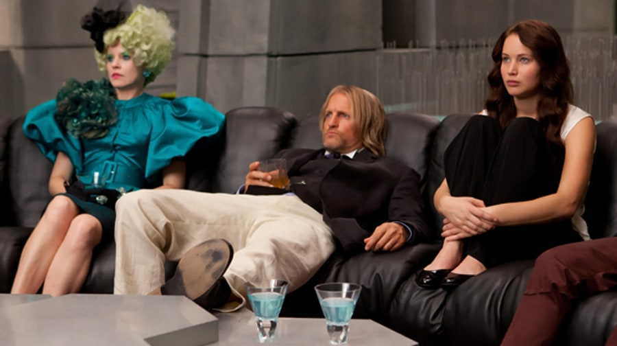 Effie, Haymitch and Katniss