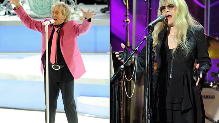 Rod Stewart and Stevie Nicks