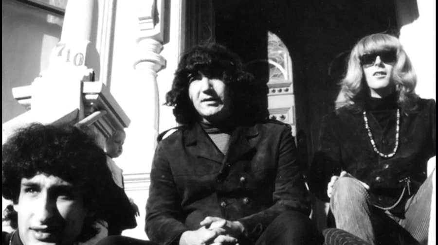 1966: Manager Danny Rifkin, Jerry Garcia, Phil Lesh, 710 Ashbury