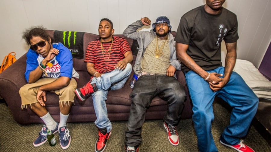 Kendrick Lamar and Black Hippy Backstage