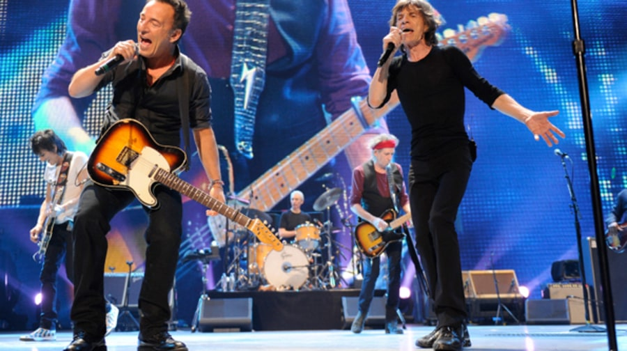 Bruce Springsteen and The Rolling Stones