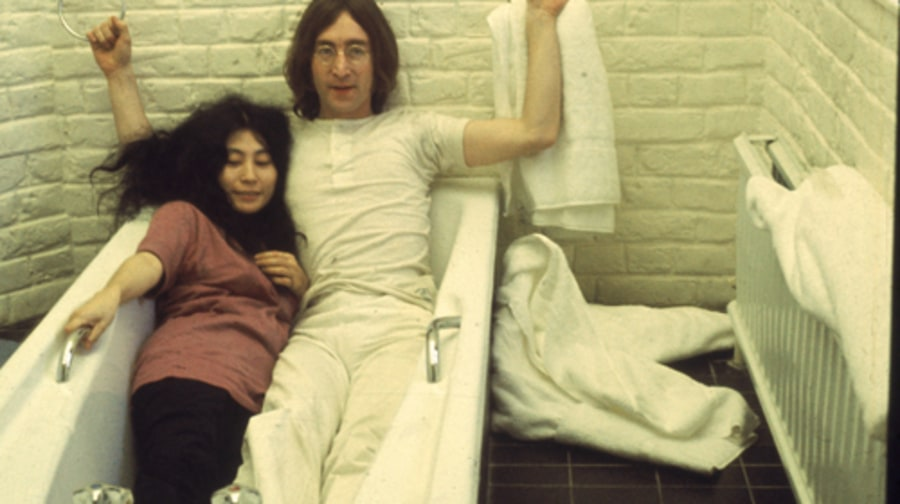 John And Yoko In A Tub Yoko Ono Through The Years