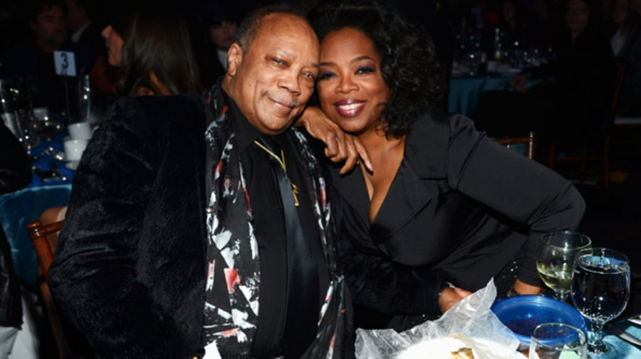 Quincy Jones and Oprah Winfrey