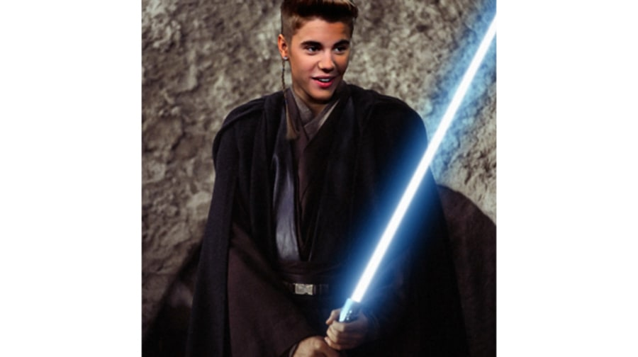 Justin Bieber as Anakin Skywalker