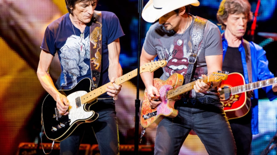 Ronnie Wood and Brad Paisley