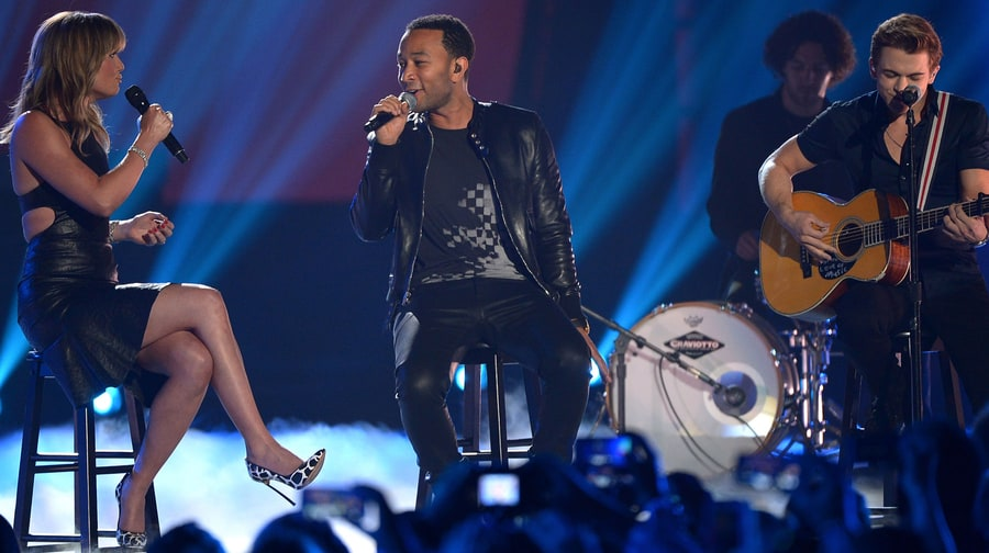 Best Collaboration: Jennifer Nettles, John Legend and Hunter Hayes