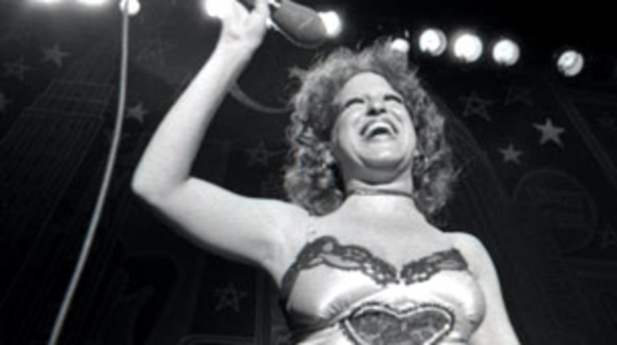 1972 Bette Midler invents a whole new style of rock & roll cool