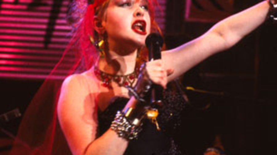 1983 Cyndi Lauper has fun