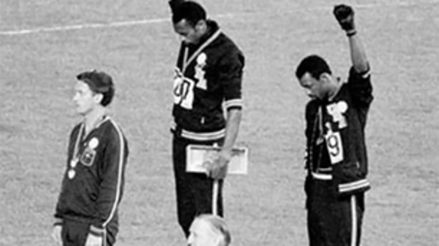 Tommie Smith and John Carlos Raise Their Fists (Mexico City 1968)