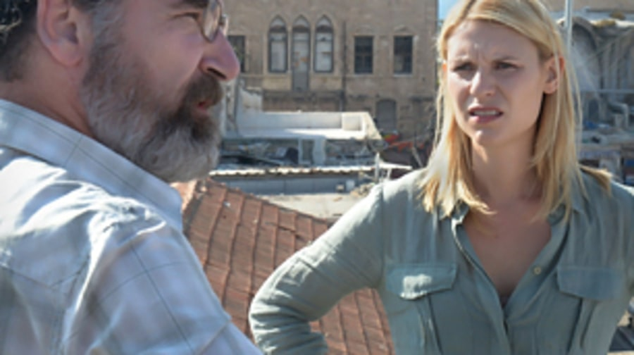 Carrie and Saul on the Rooftop