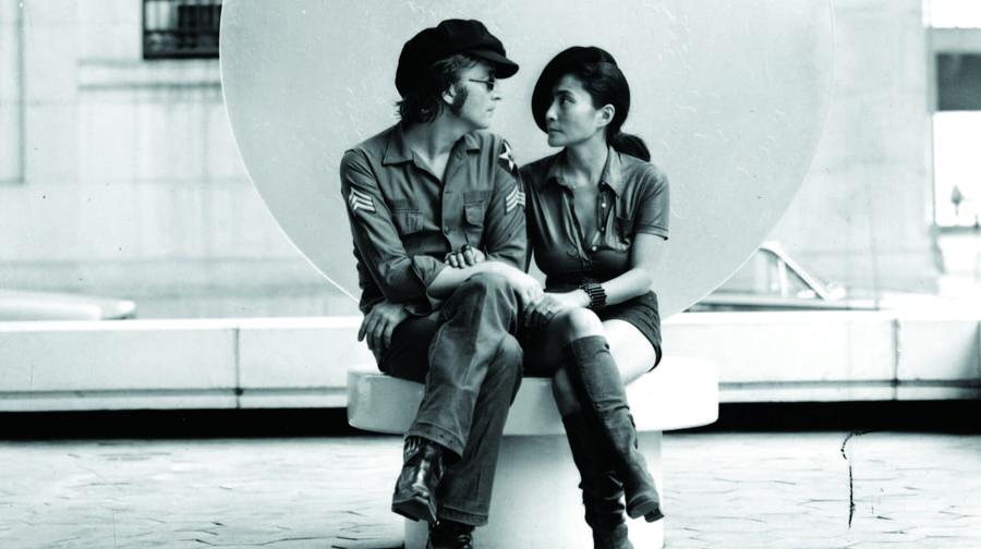 JOHN LENNON DRAWING OF JOHN AND YOKO. |Sketches John Lennon And Yoko Ono