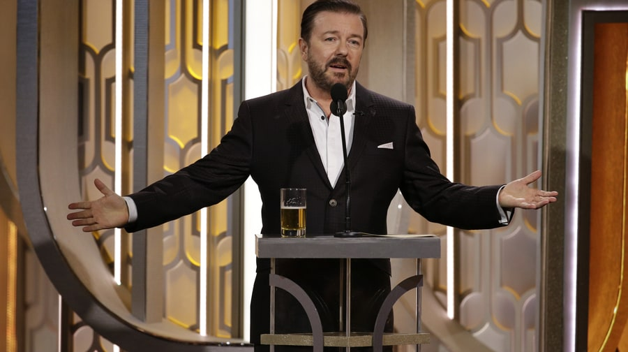 Worst: Host Ricky Gervais Not Bringing His A-Game