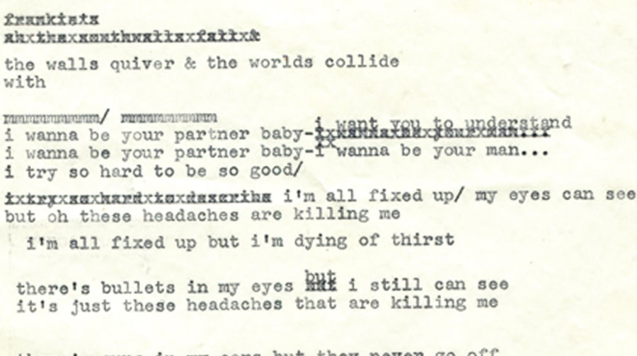 Previously Unseen Bob Dylan Lyrics From 1965