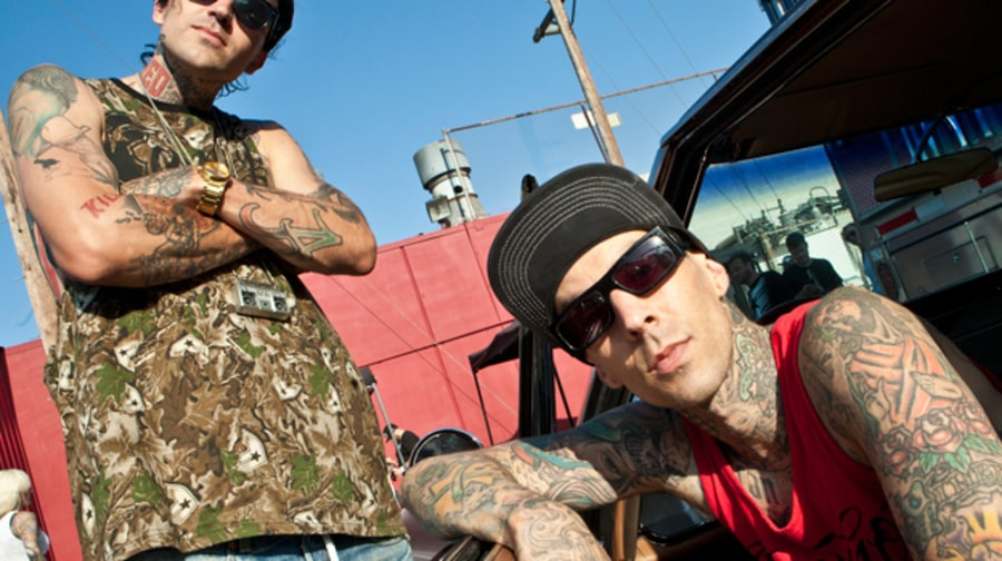 Travis Barker and Yelawolf Behind the Scenes