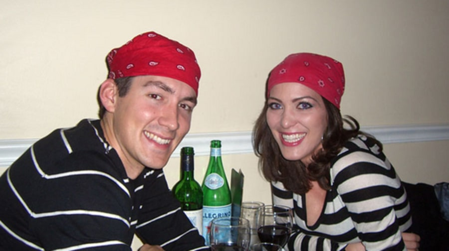 Digital Bonnie and Clyde:  Jocelyn and Ed Wearing Bandana