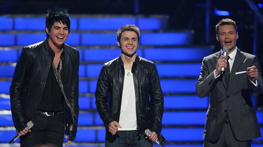 american Idol 2009: Adam and Kris with RYAN 2
