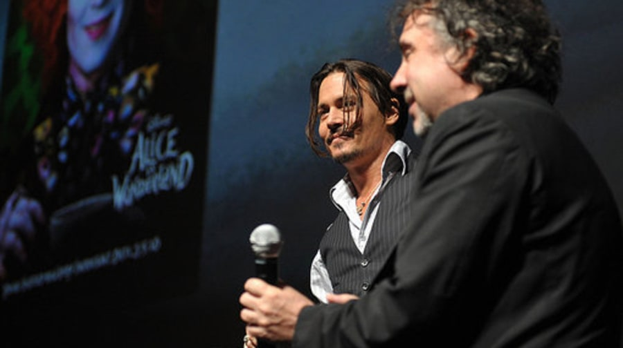 SDCC: Alice in Wonderland: Depp and Burton