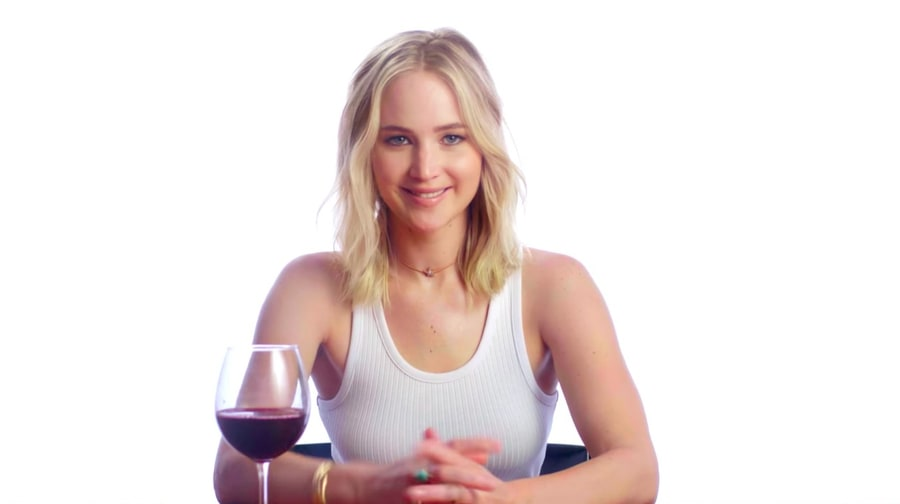 Watch Jennifer Lawrence Guess Wine Review, Movie Review in Charity Video
