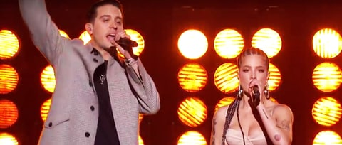 Watch G-Eazy, Halsey Perform Rousing 'Him & I' on 'Kimmel'