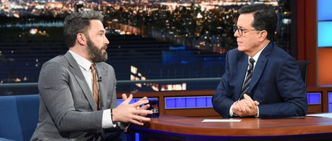 Stephen Colbert Confronts Ben Affleck on Sexual Misconduct Accusations, Harvey Weinstein
