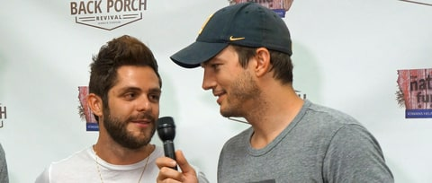 See Ashton Kutcher, Thomas Rhett Bro Down on Wild Garth Brooks Cover