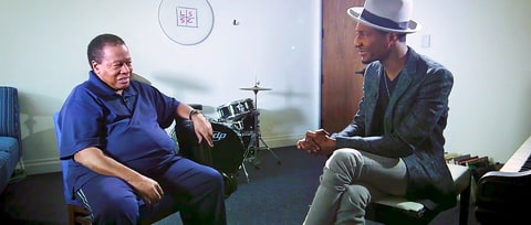 Watch Wayne Shorter Share Miles Davis' Wisdom With Jon Batiste